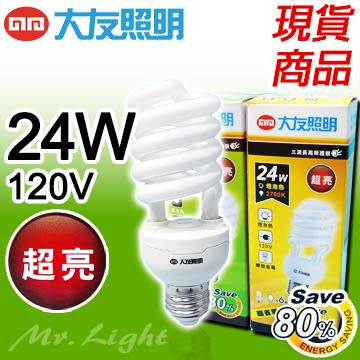 【有燈氏】innotek 大友照明 E27 24W 電子式 省電 螺旋 燈管 燈泡 110V 120V 白 黃光