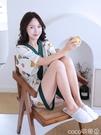 熱賣和服 日式和服睡衣女夏季純棉日系短袖套裝可愛甜美系和風日本家居服夏 coco