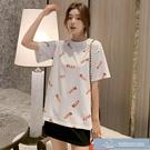 2021夏季新款韓版辛普森網紅T恤短袖寬松中長款嘻哈學生 微愛家居生活館