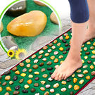 天然鵝卵石路健康步道.雨花石腳底按摩墊.居家石頭穴道按摩步道.腳踏墊腳踏板.足底指壓板足部