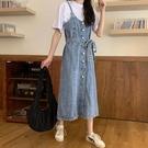 吊帶裙 復古無袖吊帶連衣裙女夏季2020...