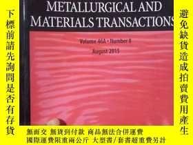 二手書博民逛書店Metallurgical罕見and Materials Tra