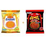 韓國 Enaak 辣味小雞點心麵隨手包-辣味+原味 (3包*14g)--特價促銷中
