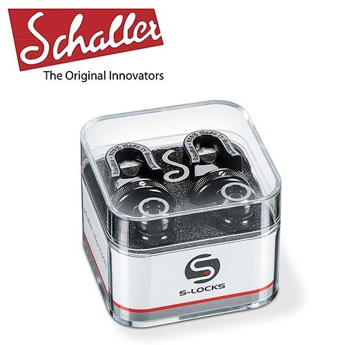 【敦煌樂器】Schaller S-Locks 吉他安全背帶扣 曜岩黑款