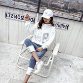 運動套裝女 時尚長袖連帽女秋季新款休閒寬鬆牛仔褲兩件套 df4249【潘小丫女鞋】