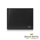 【BRAUN BUFFEL德國小金牛】阿梅爾系列4卡零錢袋皮夾(黑色) BF333-315-BK