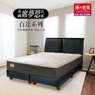 美國原裝席夢思-百達系列-美規雙人專利獨立筒彈簧床墊 152 x 200 cm 含床的世界原廠配送