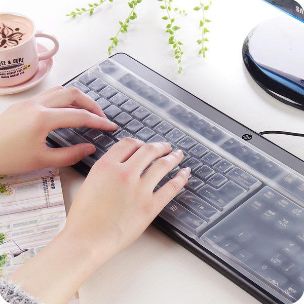 臺式機通用鍵盤保護膜易清洗防水防灰筆記本電腦鍵盤膜透明防塵膜