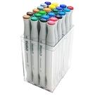 美國croma 軟毛雙頭 X5 麥克筆 透明盒 24色/組 4811-024