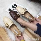 款韓方頭皮帶裝飾方跟英倫小皮鞋單鞋 雙十二特惠