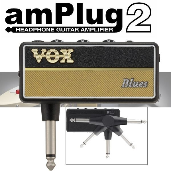 【非凡樂器】VOX amPlug2 隨身前級效果器【Blues】日本製造 (加贈輸出轉接頭)
