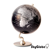 【SkyGlobe】5吋深藍色金屬底座地球儀(英文版)