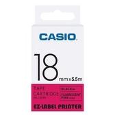 CASIO 標籤機專用螢光色色帶-18mm【螢光粉底黑字XR-18FPK】
