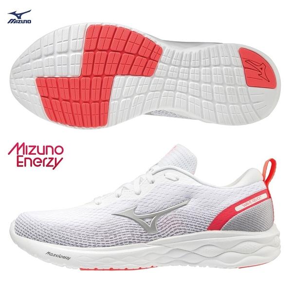 MIZUNO WAVE REVOLT 女鞋 慢跑 休閒 ENERZY中底 回彈 白【運動世界】J1GD208106