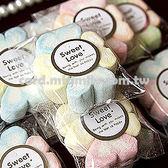 婚禮小物-100份 幸運草.棉花糖喜糖包-二次進場/創意送客糖果/迎賓禮 幸福朵朵