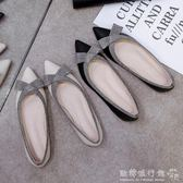 平底單鞋女韓版百搭尖頭女款孕婦鞋逗逗鞋社會   『歐韓流行館』