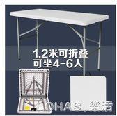 戶外摺疊桌椅 戶外長桌子簡易辦公桌擺攤桌便攜式會議桌摺疊餐桌椅學習桌 igo