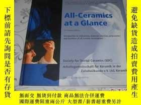 二手書博民逛書店All-Ceramics罕見At a Glance 英文原版精裝