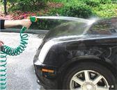 TwinS 汽車洗車四模式花灑高壓水槍10 米伸縮彈簧水管澆花水管套裝組【  】
