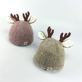 秋冬季月帽子冬天加厚保暖毛線帽男童女童套頭