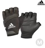 Adidas 防滑短指手套(格調灰)-M