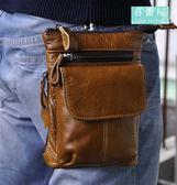 【喜番屋】真皮頭層牛皮男士可裝7吋手機腰掛零錢包手機包肩背包斜肩包斜背包男包腰包【LB90】