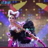 兒童演出服舞蹈服聖誕節衣服幼兒園學生小貓咪童話表演服裝套裝女 亞斯藍