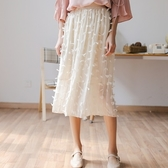 蕾絲長裙-森林系時尚優雅氣質女裙子2色73rw12【巴黎精品】