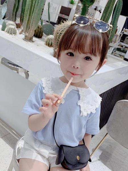 童裝女童 夏裝2020新款洋氣短袖T恤 棉體恤兒童夏季寶寶半袖薄小衫