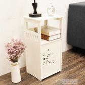 床頭櫃迷你組裝兒童收納櫃置物架簡易窄櫃臥室卡通小型床邊小櫃子   草莓妞妞