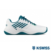 【K-SWISS】Aero Court輕量進階網球鞋-男-白/藍綠(06134-184)