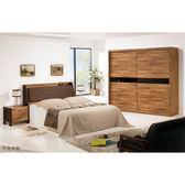 【森可家居】巴菲特6尺床組(全組) 8ZX371-3 加大雙人床架 房間組 木紋質感 工業風