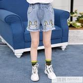 女童牛仔短褲外穿薄款2021年夏季夏裝褲子12歲女孩兒童洋氣熱褲13 夏季新品