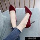8cm網紅性感高跟鞋女2020春季新款百搭仙女風細跟尖頭單鞋【全館免運】