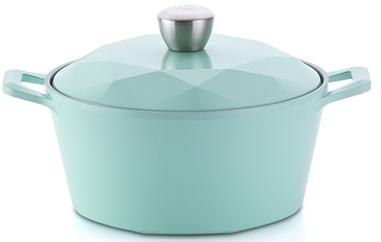 韓國NEOFLAM Carat 鑽石頂級陶瓷不沾鍋 (雙柄湯鍋 24cm) 【韓國代購】