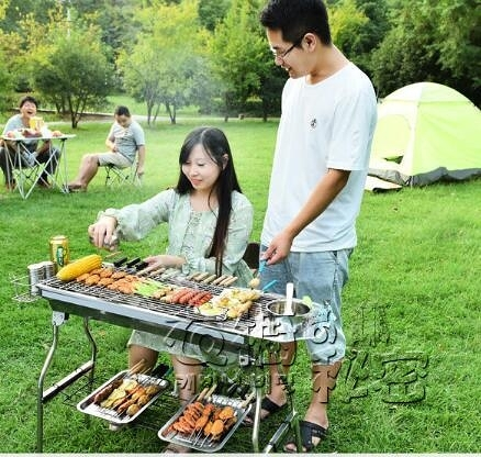 燒烤架戶外烤肉爐子烤爐烤架碳家用木炭燒烤爐野外工具碳烤爐架子 雙十二全館免運