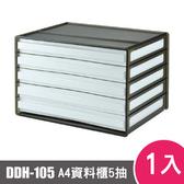 樹德SHUTER A4 橫式資料櫃DDH-105 1入黑色