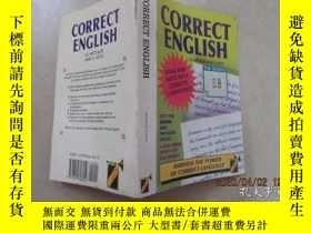 二手書博民逛書店外文書罕見CORRECT ENGLISH(共320頁,32開)Y15969