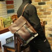 男雙肩包 復古後背包 可放14吋筆電《印象精品》y1208