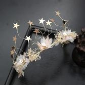 干花滿天星頭飾飾品髪箍新娘飾品結婚髪飾