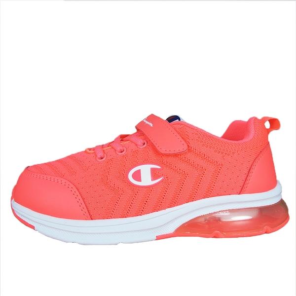 Champion ELASTIC NET 粉橘色運動慢跑童鞋-NO.KSUS-0367-90