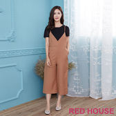 Red House 蕾赫斯-兩件式連身褲(咖啡色)