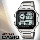 CASIO手錶專賣店 卡西歐  AE-1200WHD-1A 男錶 電子錶 方形 防水100米  LED燈 不銹鋼錶帶
