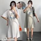 韓版可愛甜美印花休閒孕婦哺乳【側掀式】上衣 兩色【CWH913108】孕味十足 孕婦裝