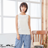【Tiara Tiara】百貨同步新品aw延 純色蕾絲圓領背心(白/米白/灰)