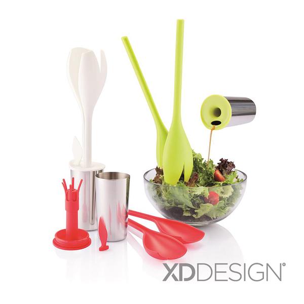 生活用品 / 沙拉匙【XD-Design Tulip 鬱金香沙拉拌匙組-三款顏色可選】戀家小舖