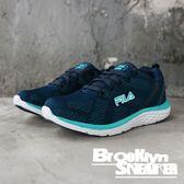 FILA 深藍 蒂綠 透氣 休閒鞋 慢跑鞋 女 (布魯克林)  5J305R333