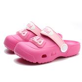 FILA 童鞋 粉桃 布希鞋 膠鞋 燈鞋 LED (布魯克林) 7S855U555