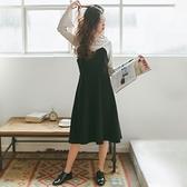 吊帶洋裝-麂皮絨簡約純色大擺連身裙4色73xm18[時尚巴黎]