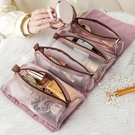 化妝包便攜外出大容量可拆分精致時尚折疊旅行ins化妝品收納包 全館免運